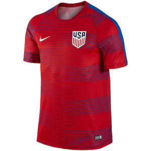 Team USA Soccer Nike Pre-Match Performance Training Jersey - Red/Blue