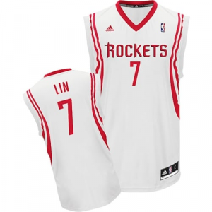 Jeremy Lin Houston Rockets adidas Youth Replica Home Jersey - White