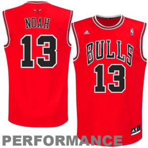 Joakim Noah Chicago Bulls adidas Youth Replica Road Jersey - Red