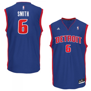 Josh Smith Detroit Pistons adidas Road Replica Jersey - Royal Blue