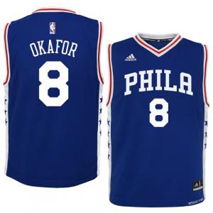 Jahlil Okafor Philadelphia 76ers adidas Preschool Road Replica Jersey - Royal