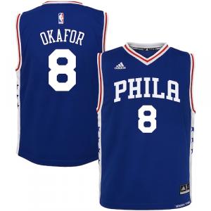 Jahlil Okafor Philadelphia 76ers adidas Toddler Road Replica Jersey - Royal