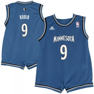 Ricky Rubio Minnesota Timberwolves adidas Infant Road Replica Jersey Romper - Slate Blue