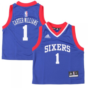 Michael Carter-Williams Philadelphia 76ers adidas Preschool Replica Road Jersey - Blue