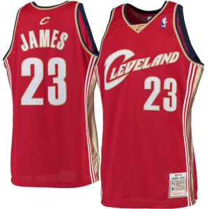 LeBron James Cleveland Cavaliers Mitchell & Ness 2003-04 Hardwood Classics Rookie Authentic Jersey - Burgundy