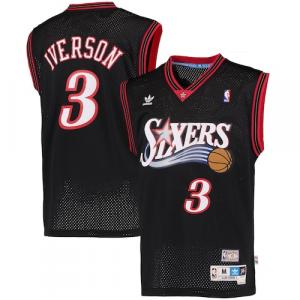 Allen Iverson Philadelphia 76ers adidas Hardwood Classics Swingman Jersey - Black