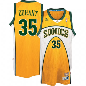 Kevin Durant Seattle SuperSonics adidas Throwback Alternate Hardwood Classics Swingman climacool Jersey - Gold