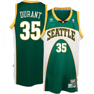 Kevin Durant Seattle SuperSonics adidas Throwback Road Hardwood Classics Swingman climacool Jersey - Green
