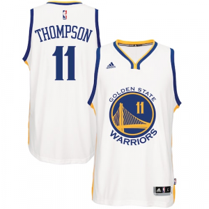 Klay Thompson Golden State Warriors adidas Home Swingman Jersey - White