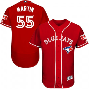 Russell Martin Toronto Blue Jays Majestic Fashion Canada Day Flex Base Authentic Player Jersey - Scarlet