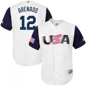 Nolan Arenado USA Baseball Majestic 2017 World Baseball Classic Replica Jersey - White