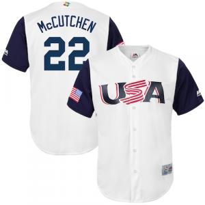 Andrew McCutchen USA Baseball Majestic 2017 World Baseball Classic Replica Jersey - White