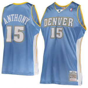 Carmelo Anthony Denver Nuggets Mitchell & Ness Hardwood Classics 2003-04 Road Authentic Jersey - Light Blue