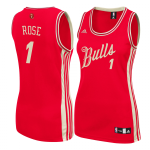 Derrick Rose Chicago Bulls adidas Women's Christmas Day Replica Swingman Jersey - Red