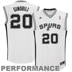 Manu Ginobili San Antonio Spurs adidas Replica Home Jersey - White Home  -