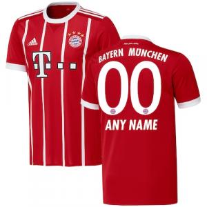 Bayern Munich adidas 2017/18 Home Replica Custom Jersey - Red