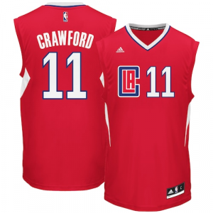 Jamal Crawford LA Clippers adidas Road Replica Jersey - Red