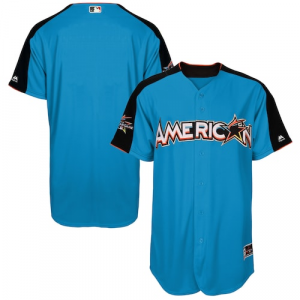 American League Majestic 2017 MLB All-Star Game Authentic On-Field Home Run Derby Team Jersey - Blue