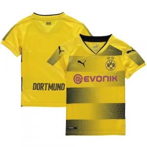 Borussia Dortmund Puma Youth 2017/18 Home Replica Jersey - Yellow