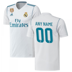 Real Madrid adidas 2017/18 Home Authentic Patch Custom Jersey - White