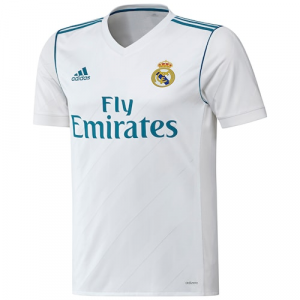 Real Madrid adidas 2017/18 Home Authentic Blank Jersey - White
