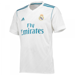 Real Madrid adidas 2017/18 Home Replica Blank Jersey - White