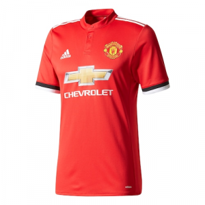 Manchester United adidas 2017/18 Home Authentic Blank Jersey - Red