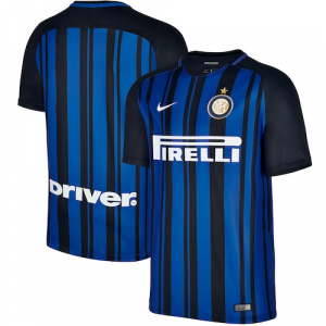 Inter Milan Nike 2017/18 Home Stadium Replica Jersey - Black/Royal