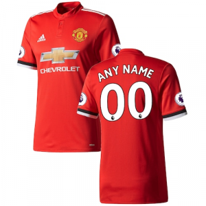Manchester United adidas 2017/18 Home Authentic Patch Custom Jersey - Red