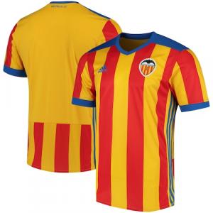 Valencia CF adidas 2017/18 Away Replica Jersey - Yellow/Red