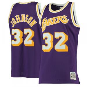 Magic Johnson Los Angeles Lakers Mitchell & Ness 1984-85 Hardwood Classics Swingman Jersey - Purple
