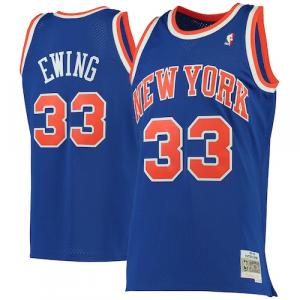 Patrick Ewing New York Knicks Mitchell & Ness 1991-92 Hardwood Classics Swingman Jersey - Blue
