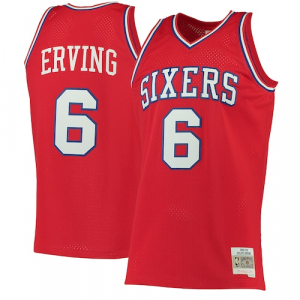 Julius Erving Philadelphia 76ers Mitchell & Ness 1982-83 Hardwood Classics Swingman Jersey - Red