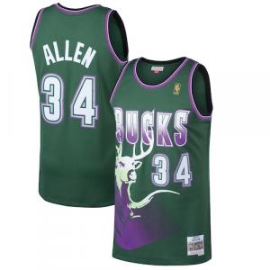 Ray Allen Milwaukee Bucks Mitchell & Ness 1996-97 Hardwood Classics Swingman Jersey - Kelly Green