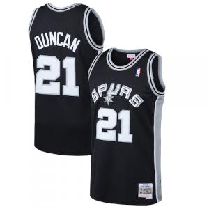 Tim Duncan San Antonio Spurs Mitchell & Ness 1998-99 Hardwood Classics Swingman Jersey - Black