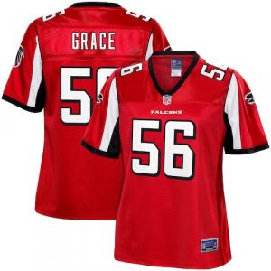 Jermaine Grace Atlanta Falcons NFL Pro Line Women's Team Color Player Jersey - Red