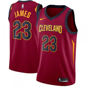 LeBron James Cleveland Cavaliers Nike Swingman Jersey Maroon - Icon Edition