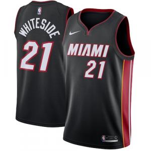 Hassan Whiteside Miami Heat Nike Swingman Jersey Black - Icon Edition