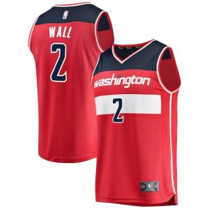 John Wall Washington Wizards Fanatics Branded Fast Break Replica Jersey Red - Icon Edition