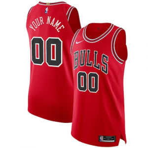 Chicago Bulls Nike Authentic Custom Jersey Red - Icon Edition