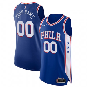 Philadelphia 76ers Nike Authentic Custom Jersey Blue - Icon Edition