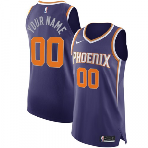 Phoenix Suns Nike Authentic Custom Jersey Purple - Icon Edition