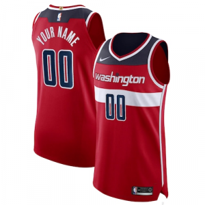 Washington Wizards Nike Authentic Custom Jersey Red - Icon Edition
