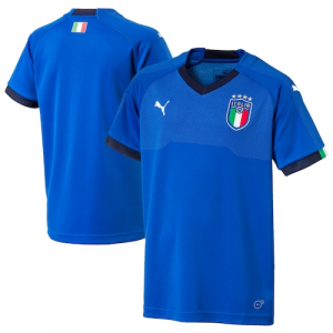 Italy National Team Puma Youth 2018 World Cup Home Jersey - Blue