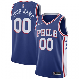 Philadelphia 76ers Nike Swingman Custom Jersey Blue - Icon Edition