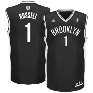 D'Angelo Russell Brooklyn Nets adidas Road Replica Jersey - Black