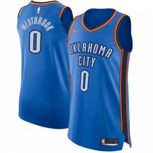 Russell Westbrook Oklahoma City Thunder Nike Authentic Jersey Blue - Icon Edition