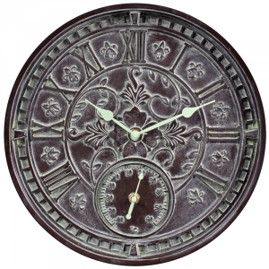 AcuRite 14-inch Verdigris Outdoor Clock with Celsius Thermometer Was: $39.99 Now: $15.99.