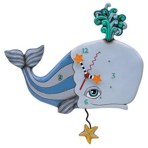 """Allen Designs - """"Spouting Off"""" Whale Clock"""