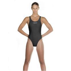 Head Women's Liquid Power Tank Swimsuit, Black/Silver